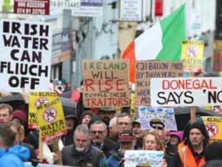 Irish water tax - demonstrations